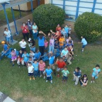 Betsy Ross students are introduced to a drone