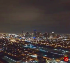 Drone takes a 360 night view of Houston